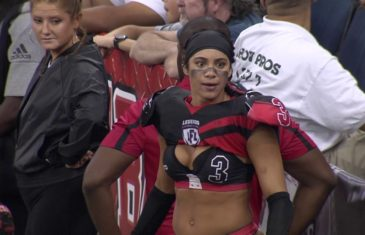 "LFL player says she wants to beat her opponents ""wives up"""