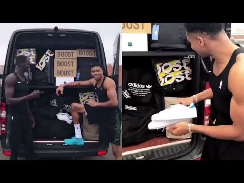 Adidas slides into Antetokounmpo's DM's with surprise gifts