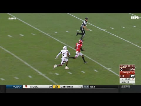 Georgia Bulldogs score on crafty flea flicker pass