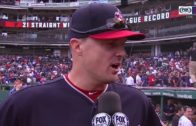 Jay Bruce speaks on the Cleveland Indians historic run