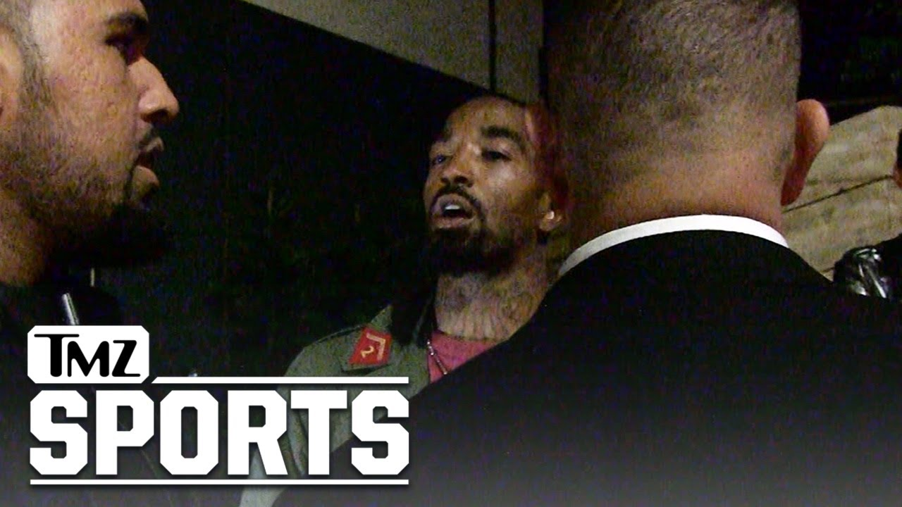 Jr Smith reacts to questions about LeBron James while in Los Angeles