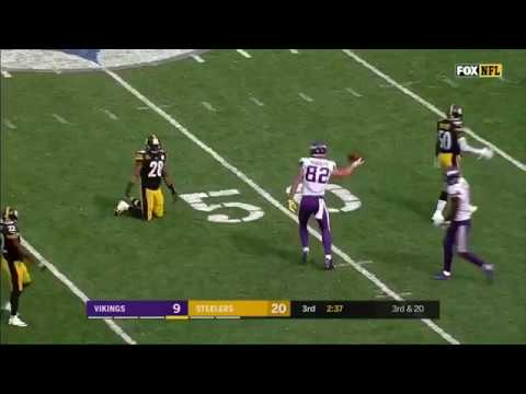 Kyle Rudolph lays out for one-handed snag