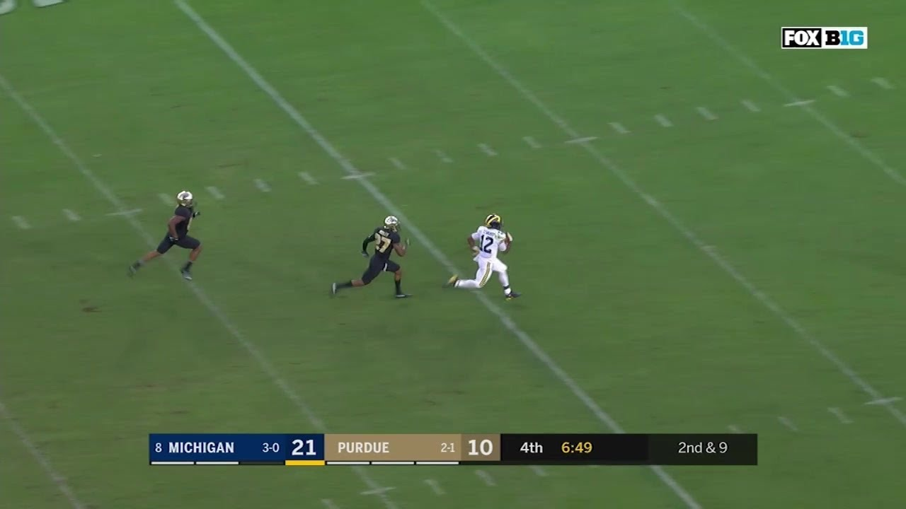 Michigan APB Evans makes 49-yard TD to open lead