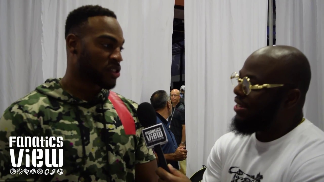 Rico Gathers talks transitioning from basketball to the NFL & his rapping skills