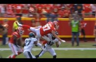 Travis Kelce makes an amazing dive in to endzone