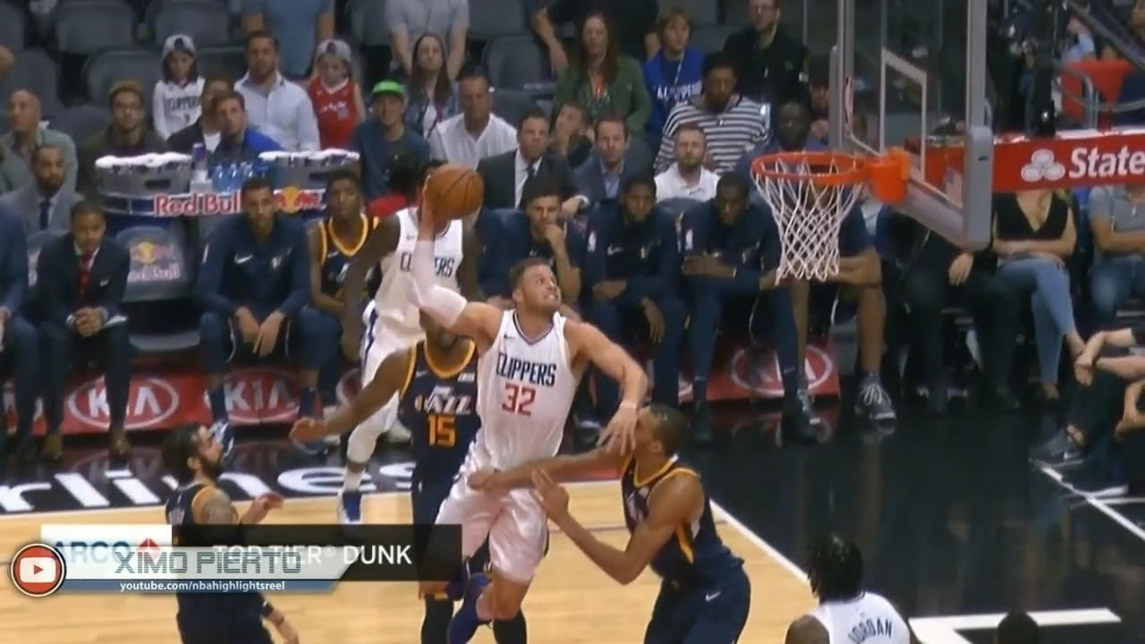 Blake Griffin climbs the Steiffel Tower for the slam