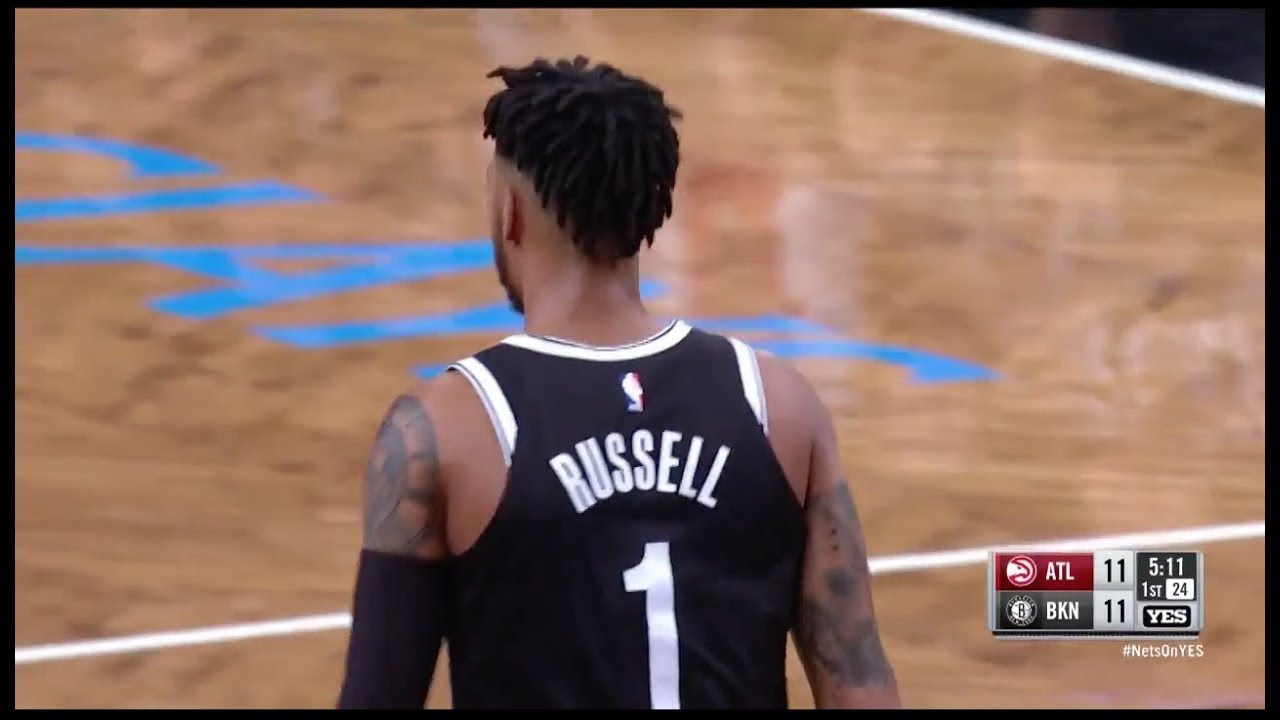 D'Angelo Russell steals and deals a beautiful assist to Allen Crabbe