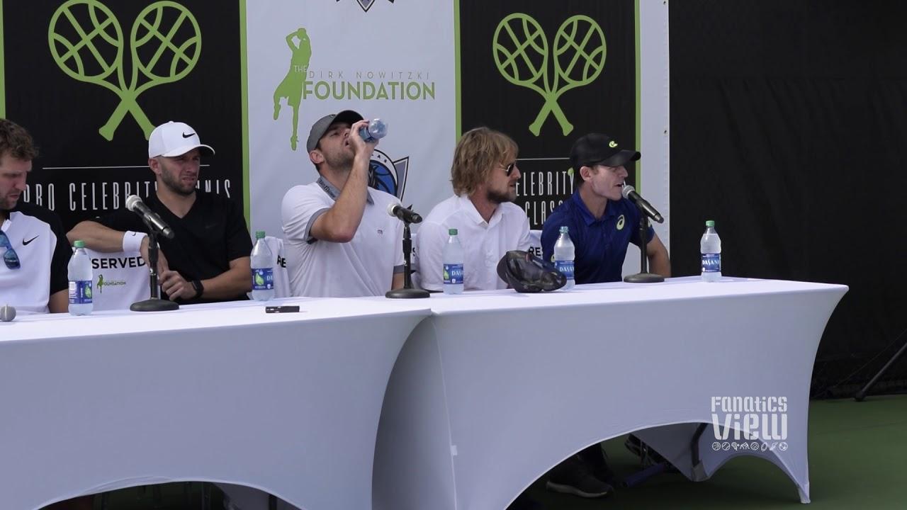 Dirk Nowitzki, Mike Modano, Owen Wilson & JJ Barea discuss their tennis games