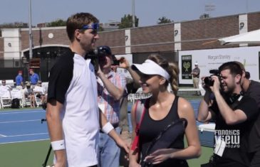 Dirk Nowitzki vs. Mike Modano tennis match in Dallas