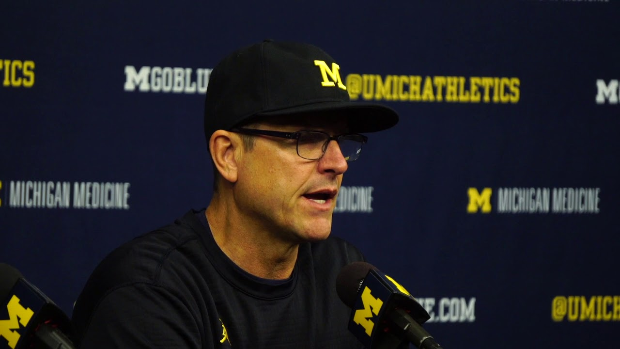 Jim Harbaugh discusses his team's dissapointing loss to Michigan State