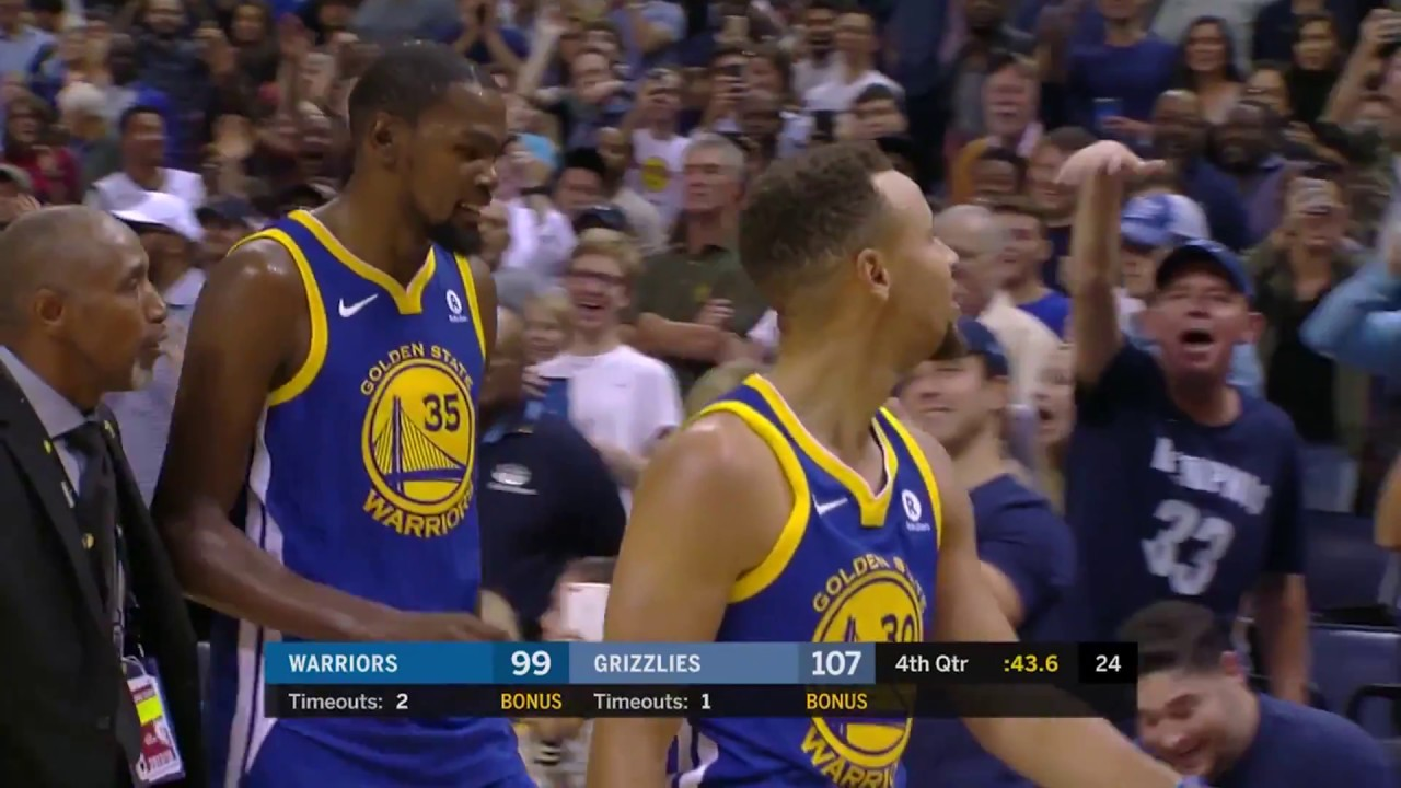 Memphis Grizzlies win as Steph Curry and Kevin Durant are tossed late