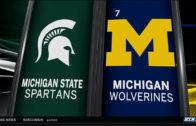 Michigan State upsets the #7 ranked Michigan Wolverines