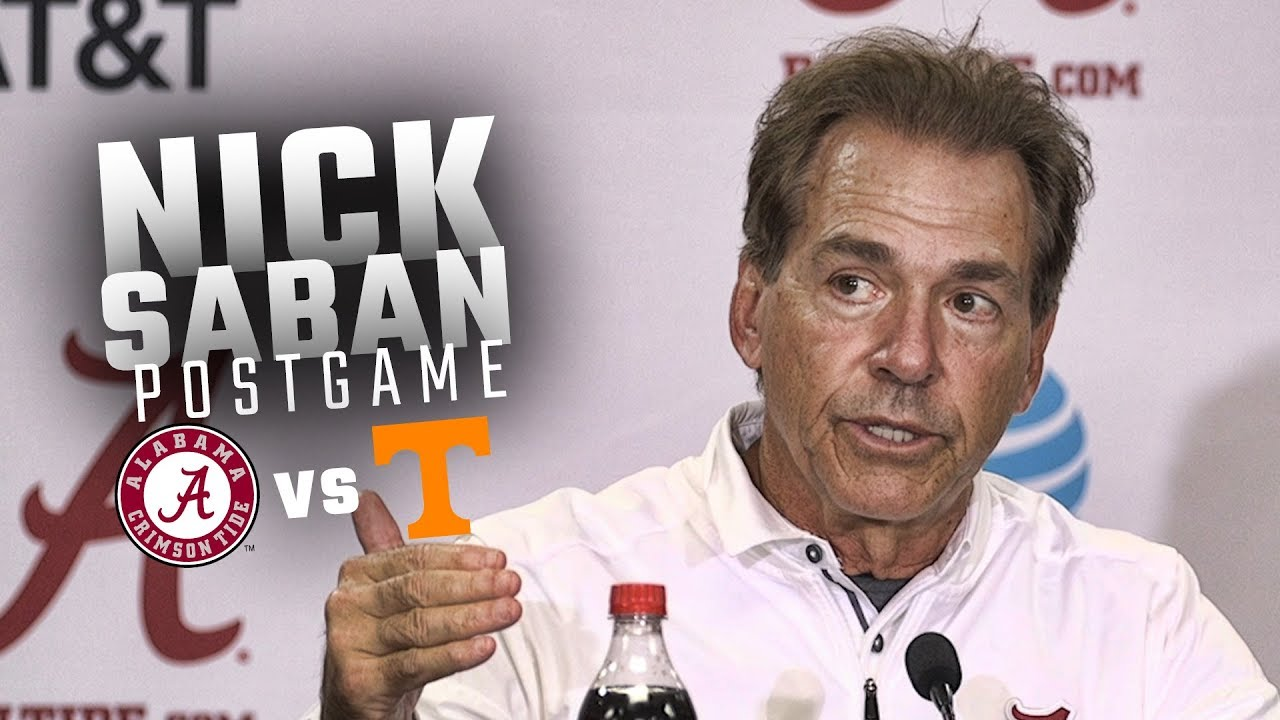 Nick Saban discusses Alabama's blow out win over Tennessee