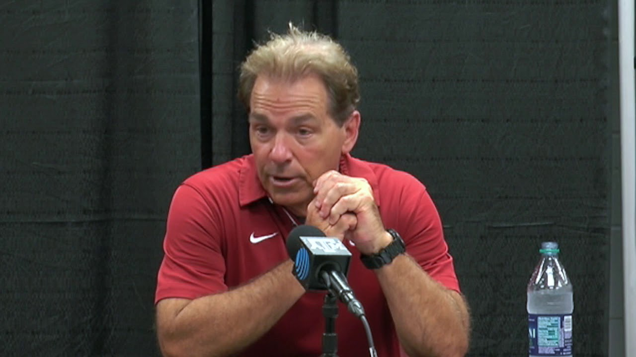 Nick Saban discusses Alabama's victory over Texas A&M