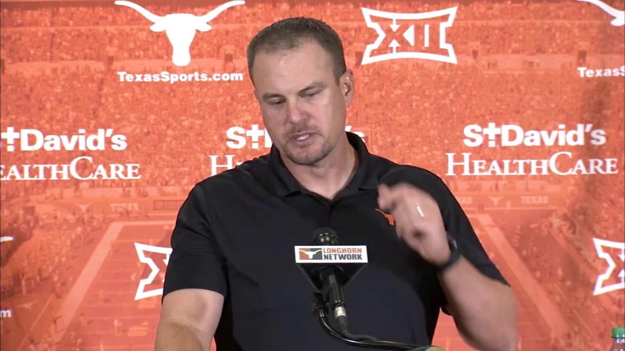 Tom Herman previews Texas' matchup with Kansas State