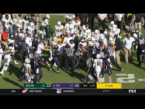 After Baylor & TCU brawl every player is penalized
