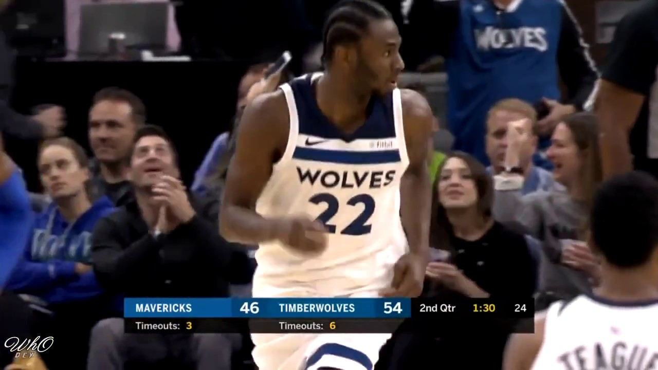 Andrew Wiggins gets up on highflying jam