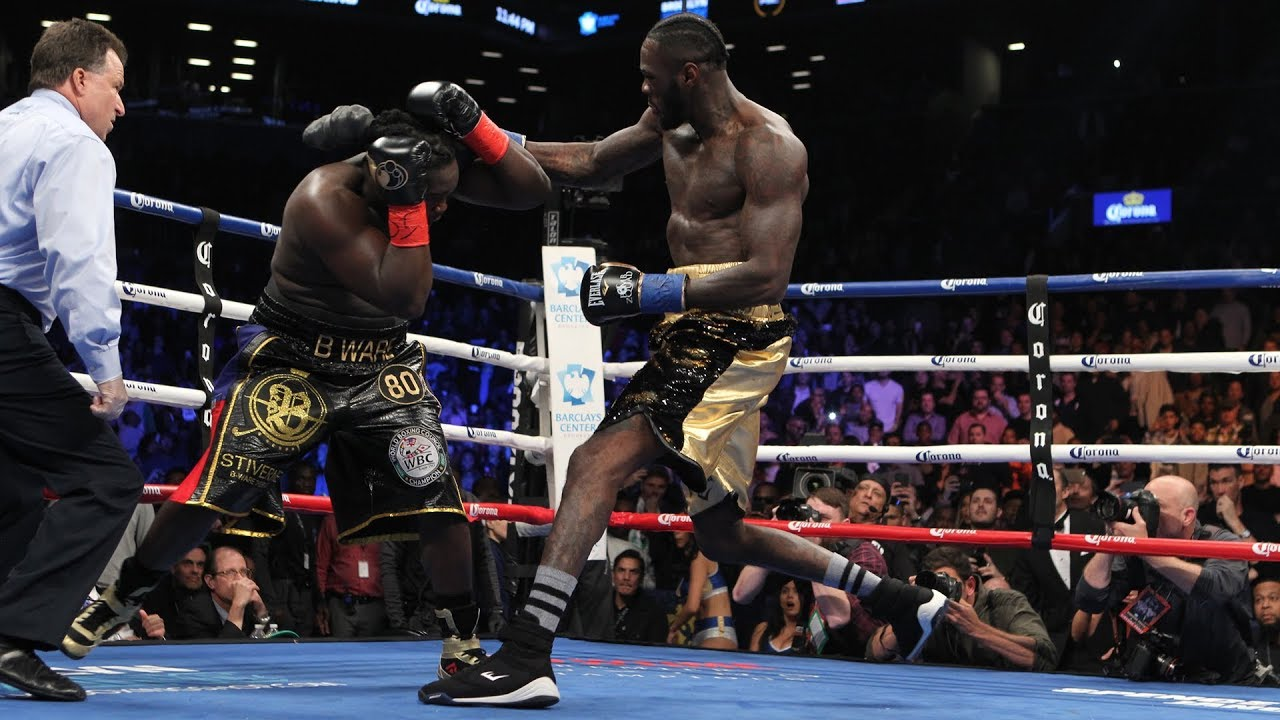Deontay Wilder was throwing absolute bombs on his way to a first round KO of Bermane Stiverne