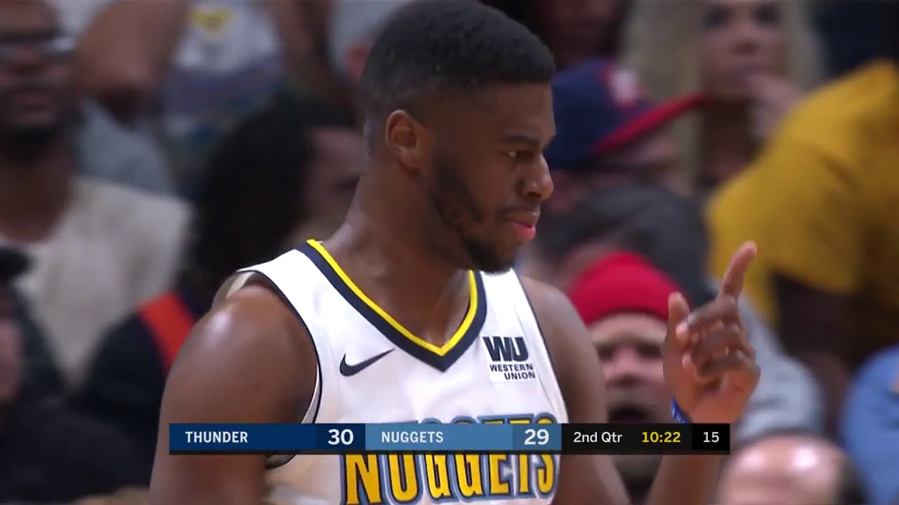 Emmanuel Mudiay catches fire off the bench to lead Denver to victory