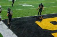 Iowa's Joshua Jackson intercepts J. T. Barrett with one hand