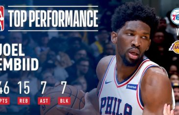 Joel Embiid dominates the Lakers with career night