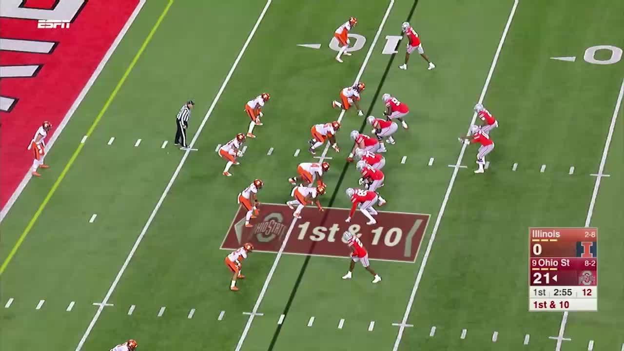 JT Barrett throws his 100th career touchdown pass