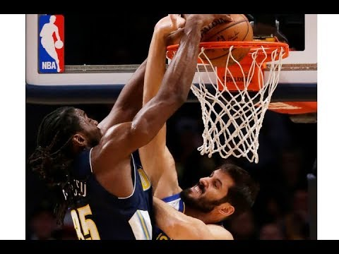 Kenneth Faried finishes with the monster slam