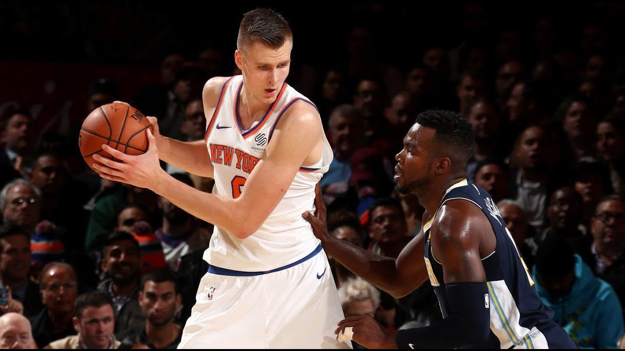 Kristaps Porzingis goes for new career high in The Garden
