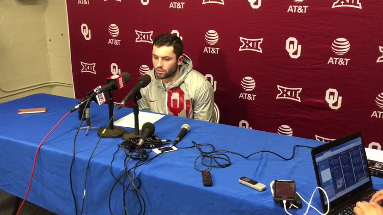 Lincoln Riley & Baker Mayfield discuss Saturday's tense game against Kansas in Lawrence