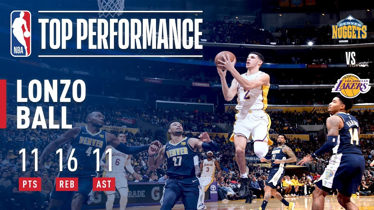 Lonzo Ball records second career triple double