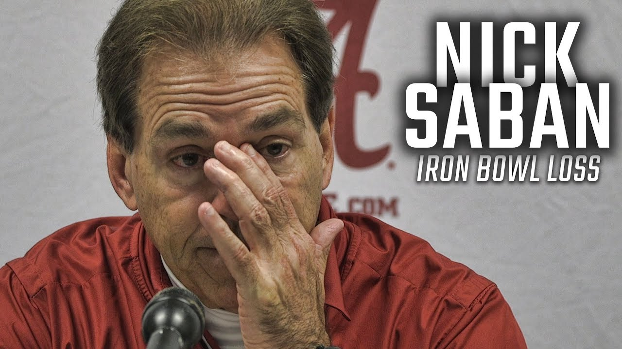 Nick Saban addresses Alabama's loss to Auburn