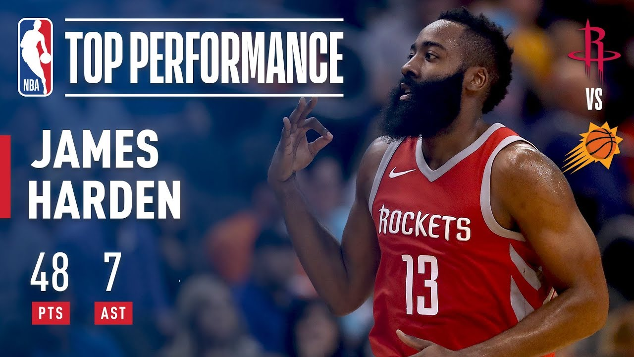 Rockets score 90 at half as James Harden stays hot