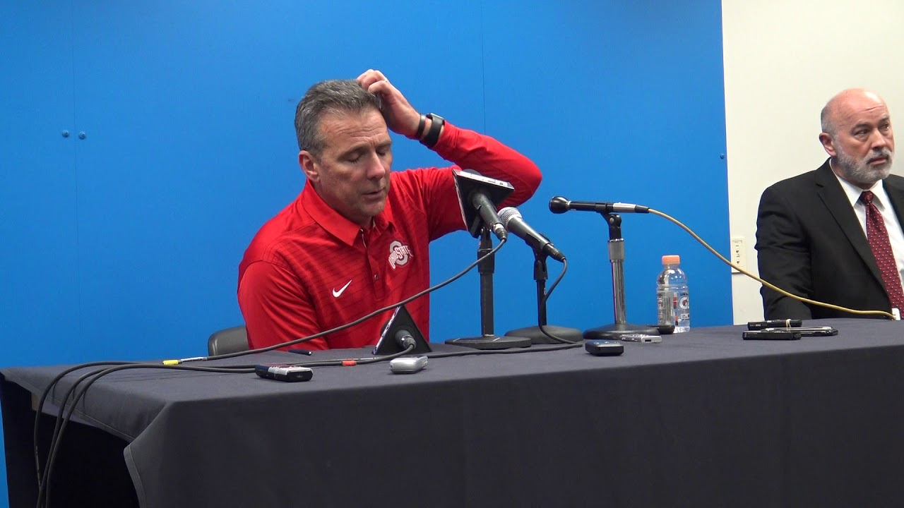 Urban Meyer discusses Ohio State's dissapointing loss to the Iowa Hawkeyes