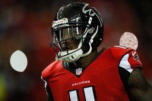 Julio Jones delivers a big hit following an interception