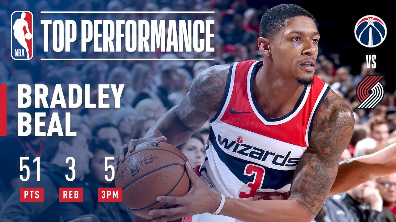Bradley Beal drops 51 on Blazers