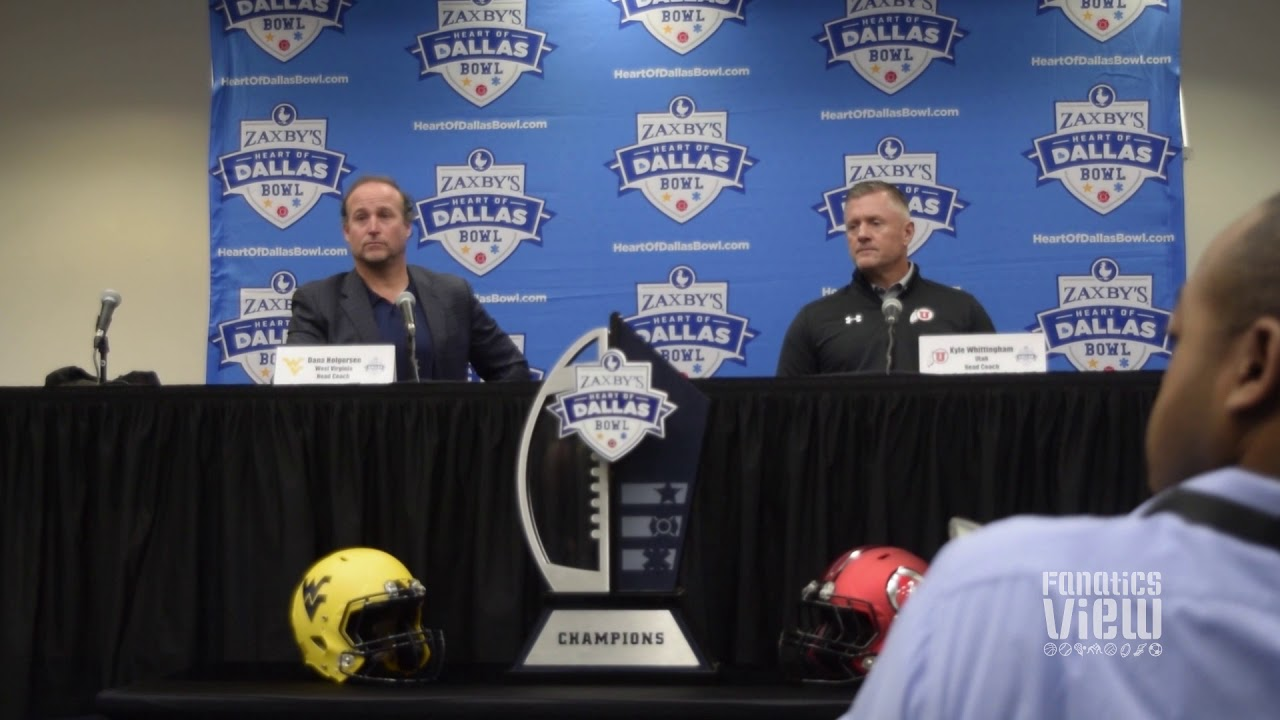 Dana Holgerson & Kyle Whittingham discuss West Virginia & Utah seasons