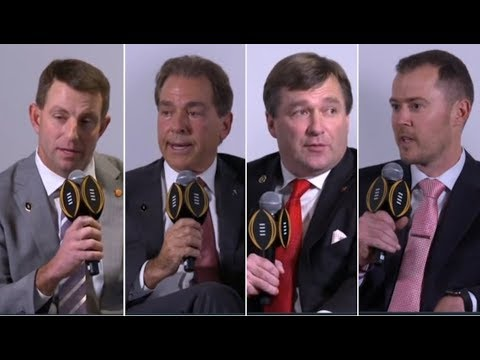 Lincoln Riley, Dabo Swinney, Nick Saban & Kirby Smart answer questions at the College Football Playoff Press Conference