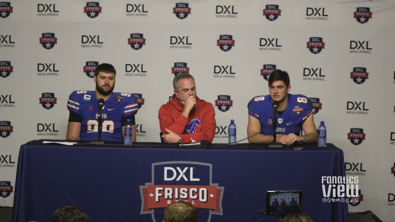 SMU Press Conference - Ben Hicks, Sonny Dykes, Justin Lawler discuss Frisco Bowl loss