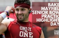Baker Mayfield Senior Bowl highlights & throws from Day 1 of Practice