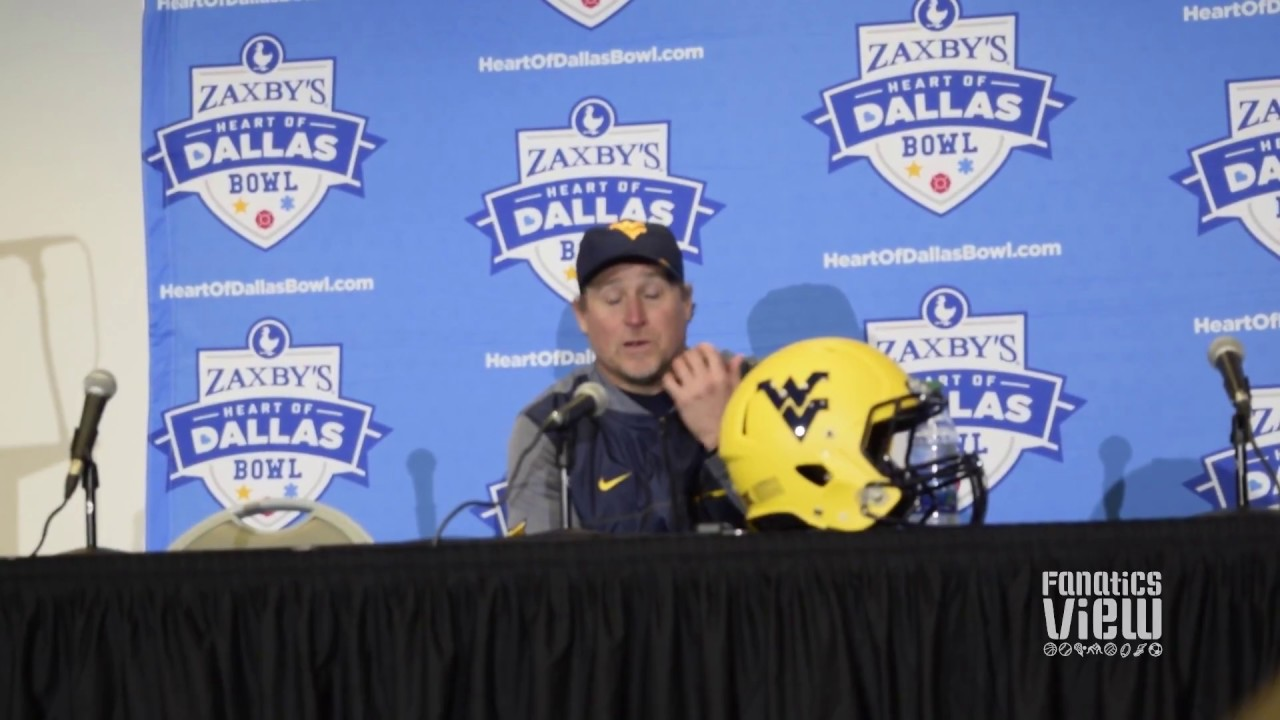 Dana Holgerson speaks on West Virginia's loss to Utah at the Heart of Dallas Bowl