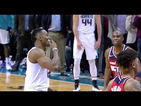 Dwight Howard blows a kiss to the haters after sinking a pair from the line