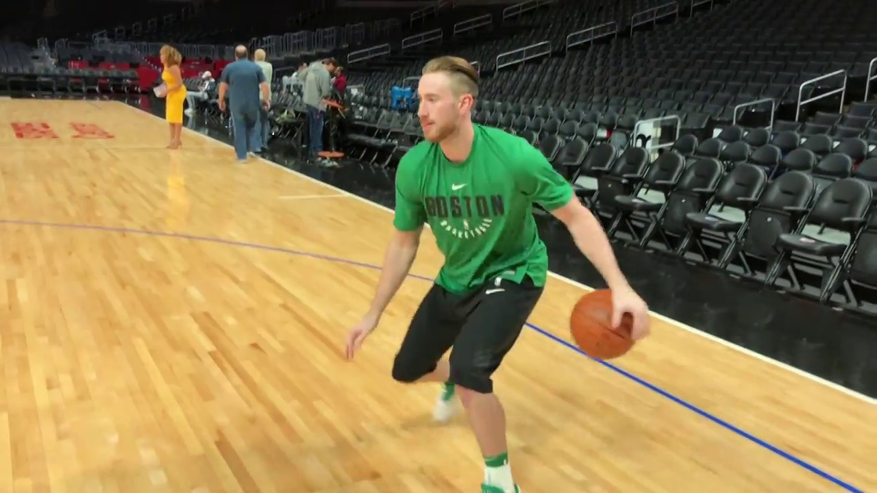 Gordon Hayward Back On Court Shooting During Celtics Pre Game