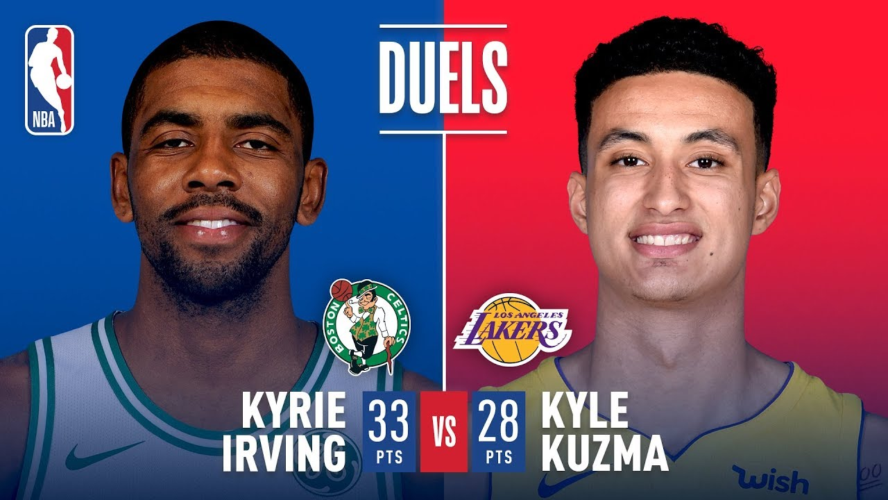 Kyle Kuzma keeps up with Kyrie Irving in Los Angeles