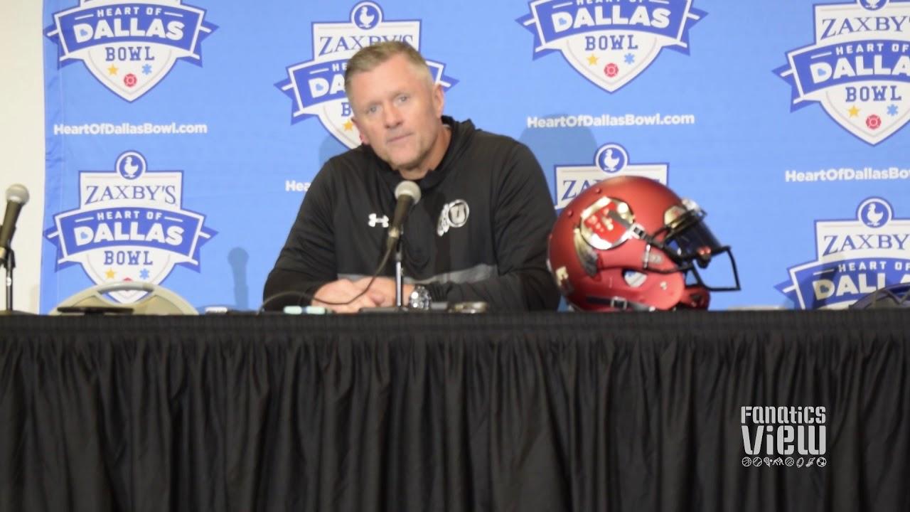 Kyle Whittingham speaks on Utah's Heart of Dallas Bowl victory, tying Nick Saban in Bowl wins