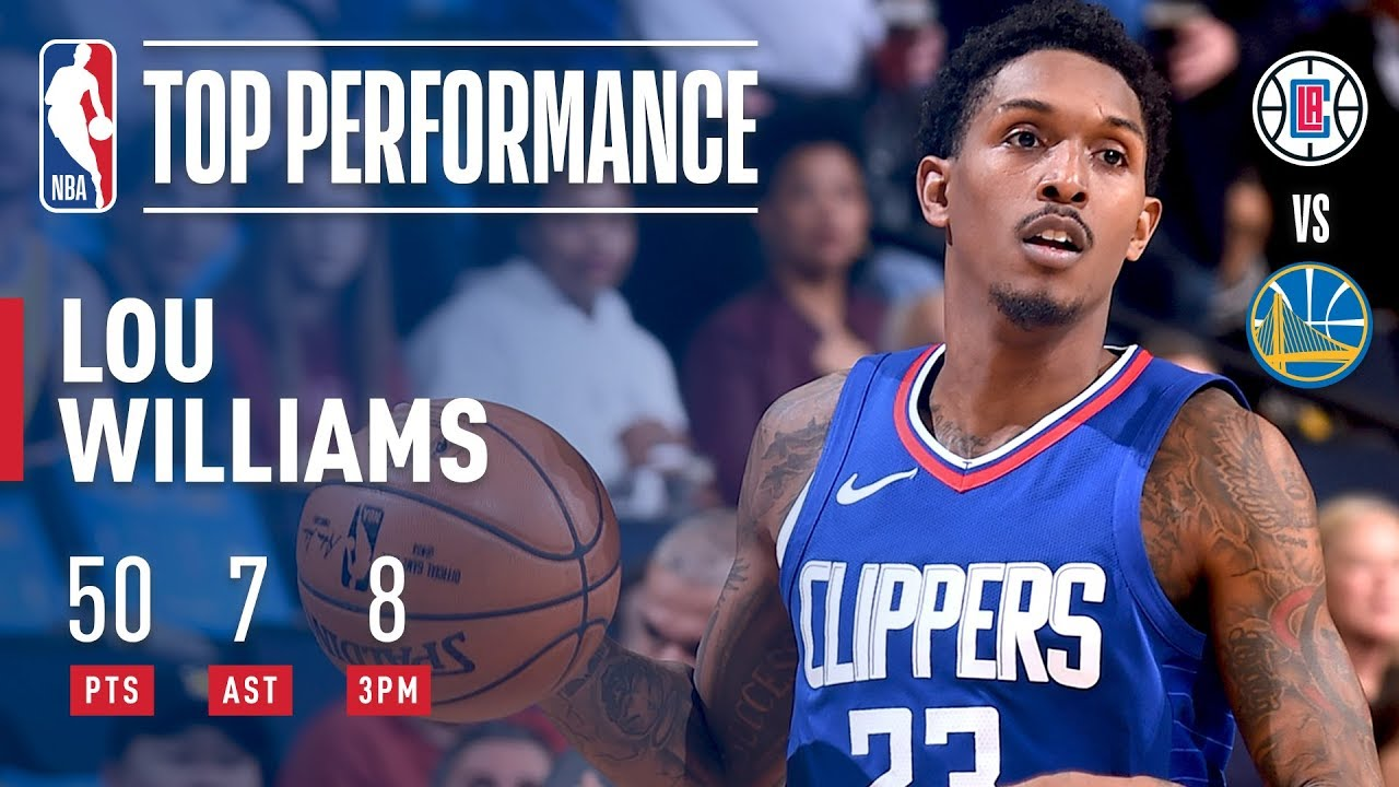 Lou Williams hangs career high 50 points on Golden State