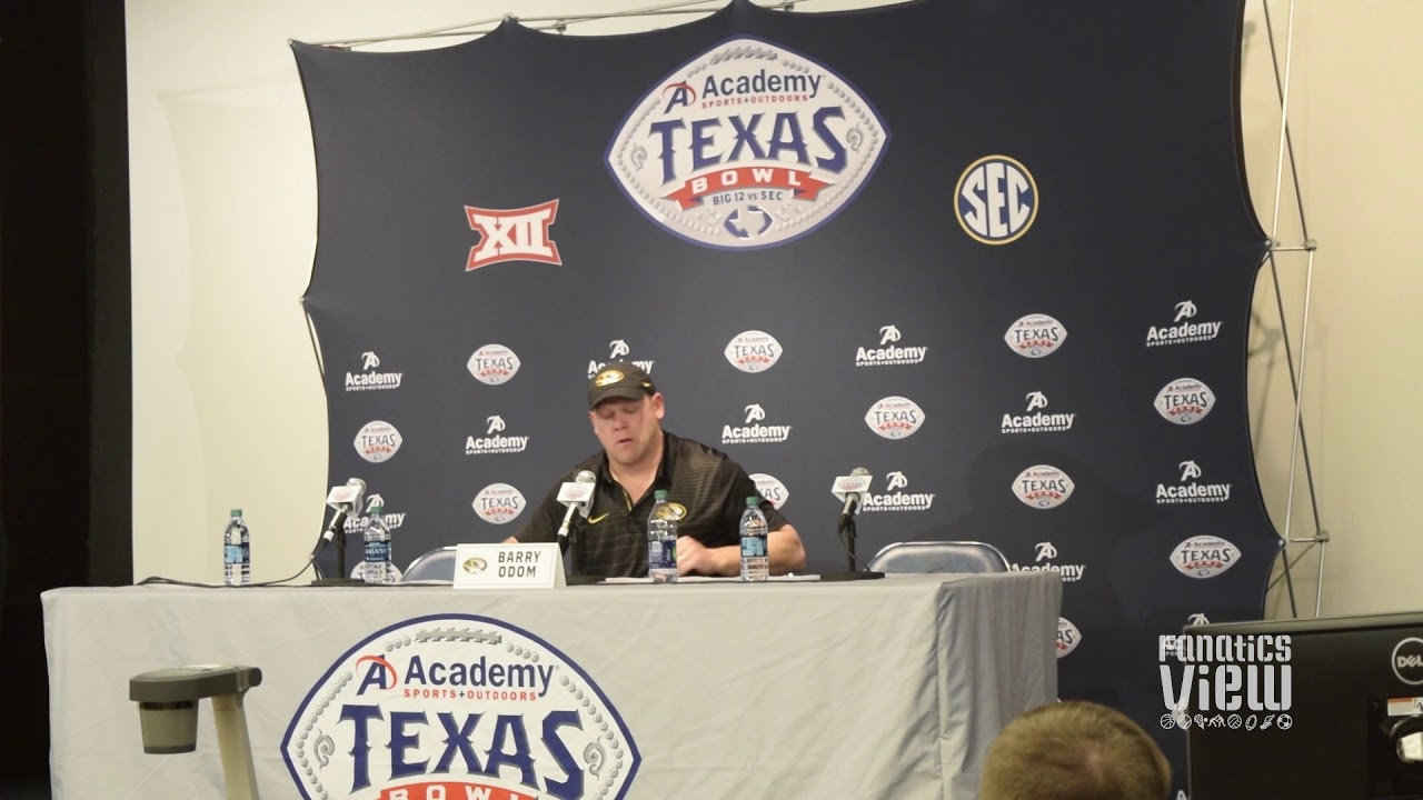 Missouri head coach Barry Odom discusses losing the Texas Bowl
