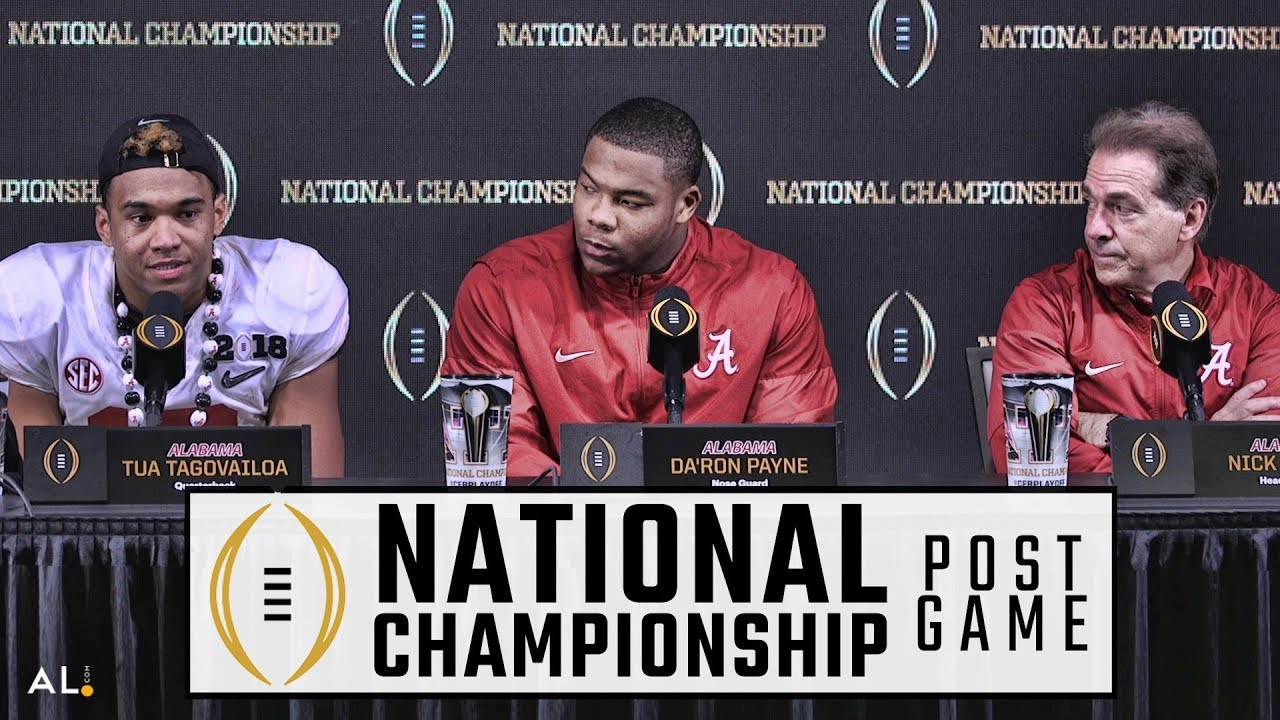 Nick Saban, Tua Tagovailoa, & Da'Ron Payne talks Alabama's National Championship win