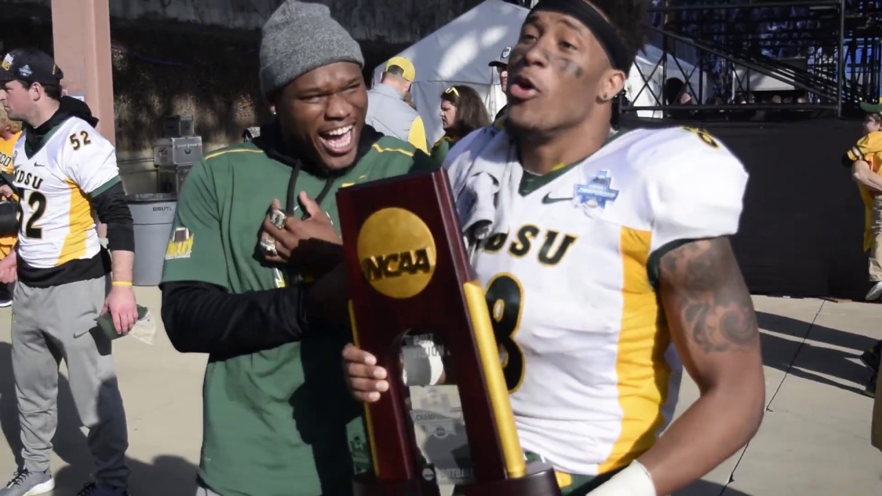 North Dakota State celebrates 2017-2018 FCS National Championship