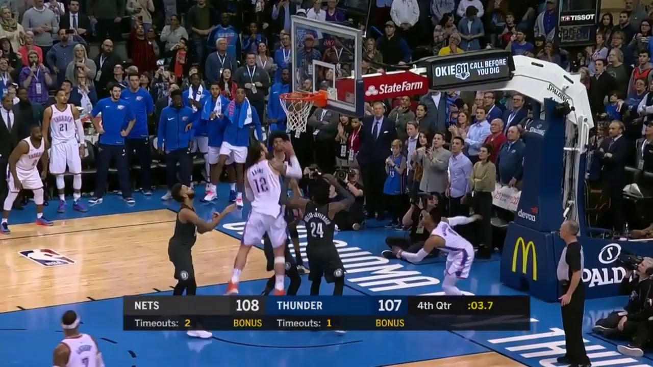 Russell Westbrook secures the victory with a go-ahead layup