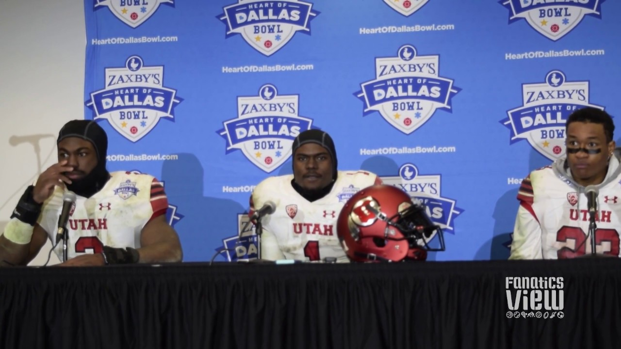 Utah players meet with the media following a dominant performance in the Heart of Dallas Bowl